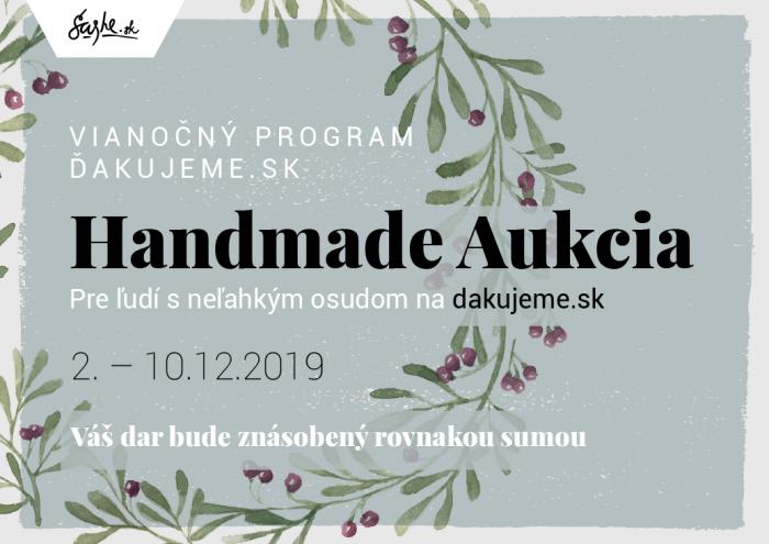 DOBROčinná aukcia so SAShE.sk