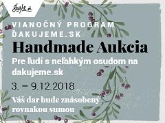 SAShE.sk aukcia: Kúp vecičku, Daruj DOBRO na Vianoce :-)
